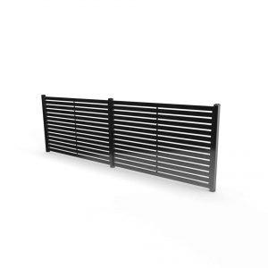Fresno slatted fence panel