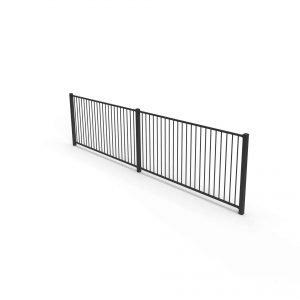 plain aluminium fence panel