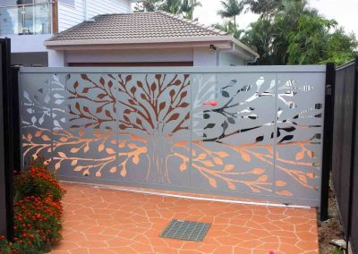 Laser cut designer gates