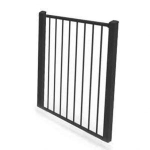 Plain aluminium gate