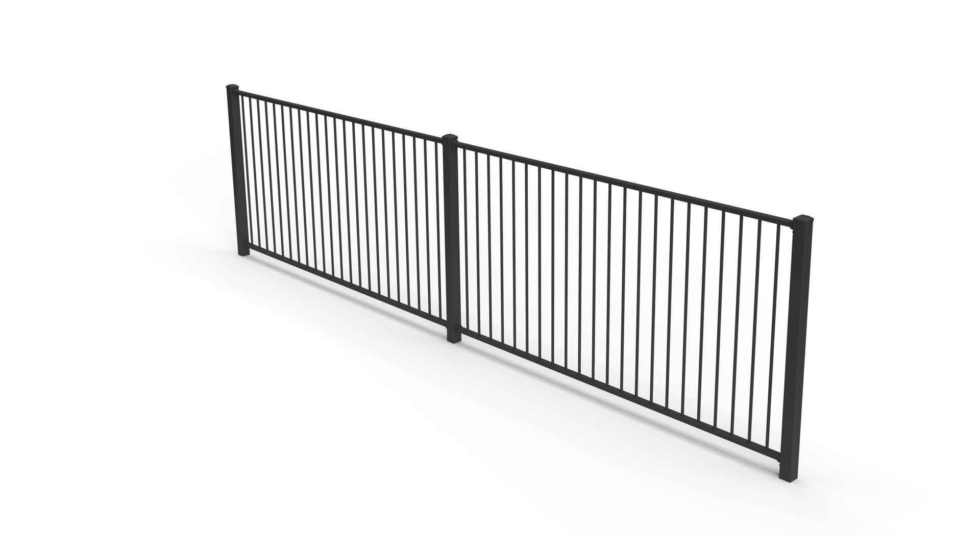 Plain fencing panel aluminium