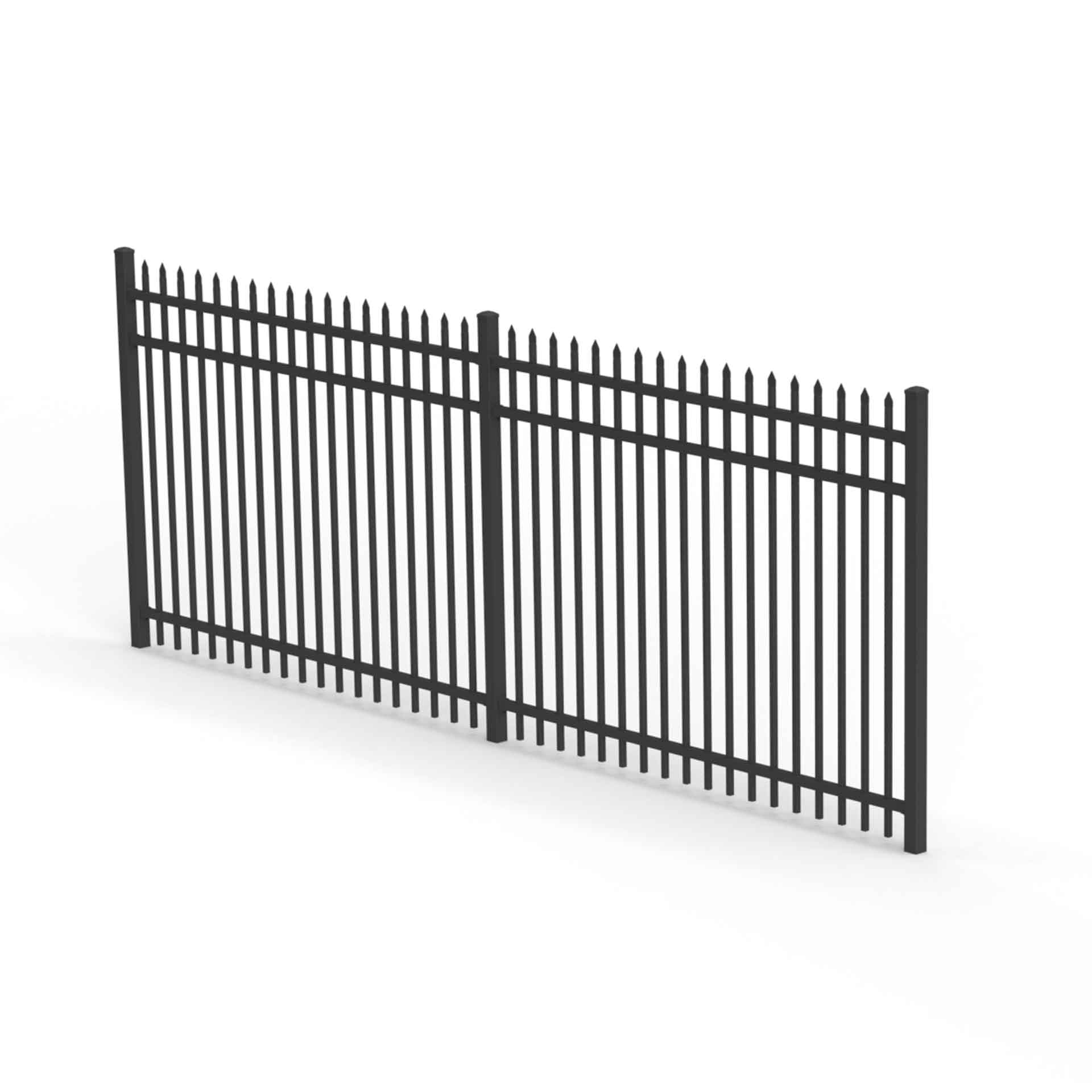 secura fence panel spiked top aluminium fence